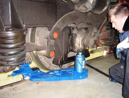 Мобильный станок для обточки колесных пар тепловозов