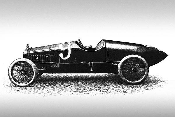 Гоночный автомобиль Руссо Балт номер 2458